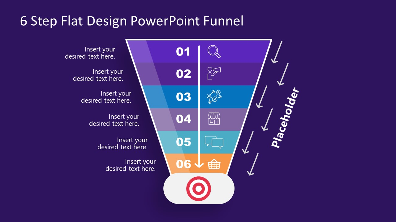 Editable Funnel Chart PowerPoint Diagram