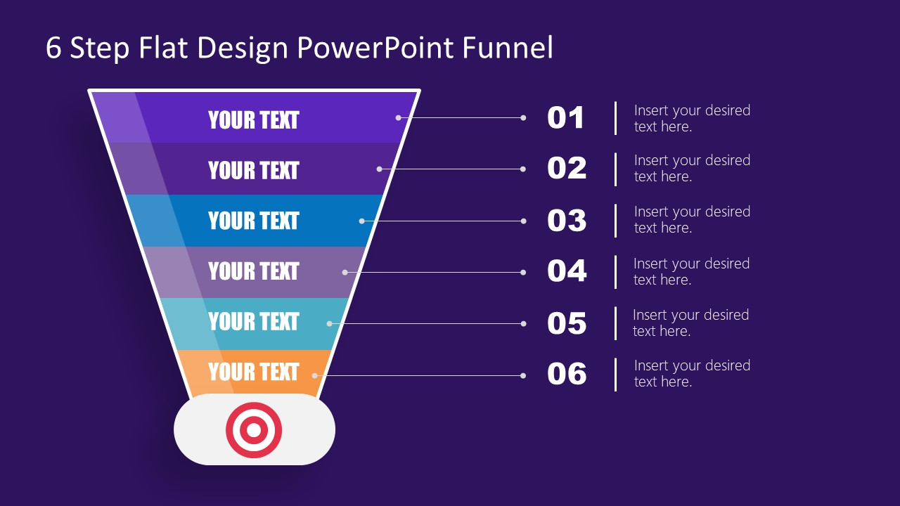Flat Design PowerPoint Funnel Diagram