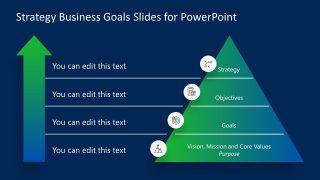 Presentation for Business Strategy Pyramid Diagram