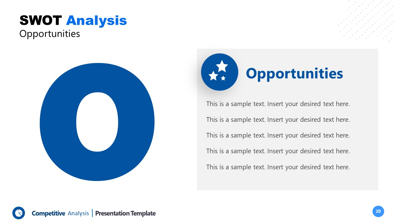 PowerPoint Opportunities Template Competitors Analysis