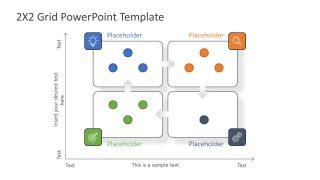 PowerPoint 2x2 Matrix Diagram Template