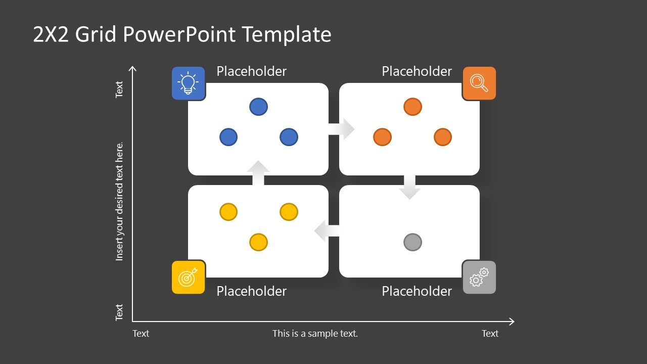 PowerPoint Templates for 2x2 Matrix Grid