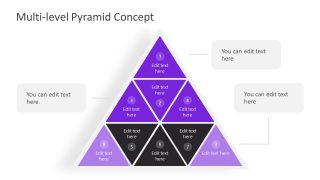 PPT Pyramid Diagram with Pinwheel
