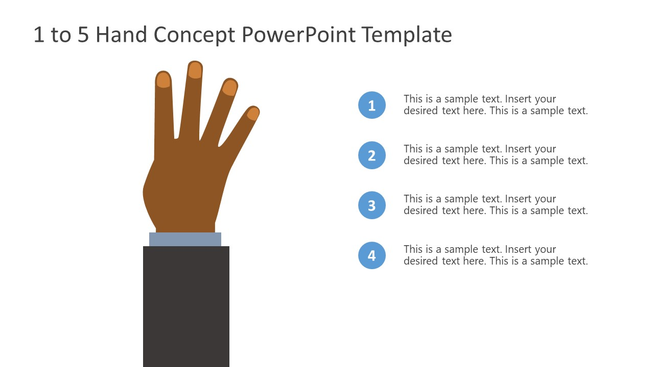PowerPoint Bullet Point 4 Finger Counting