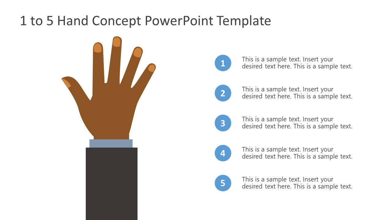 PowerPoint Bullet Point 5 Finger Counting