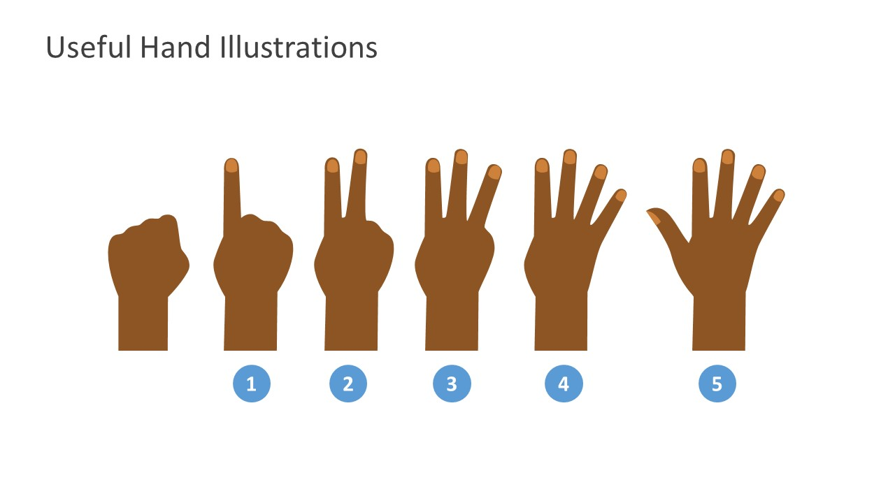 Hand Concept 1 to 5 PowerPoint