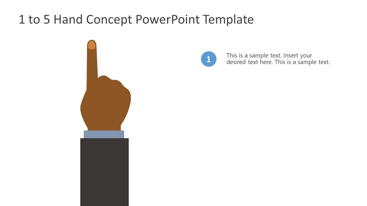 PowerPoint Bullet Point 1 Finger Counting