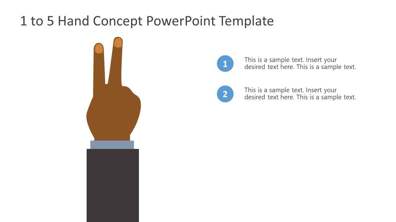 PowerPoint Bullet Point 2 Finger Counting