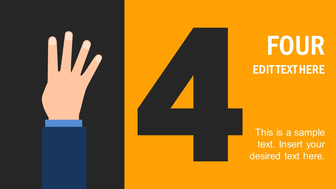 PPT Template Shapes of Hand Counting 4