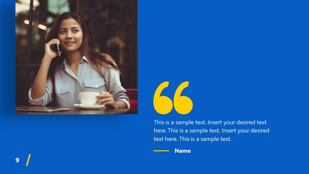 PowerPoint Theme Quotes Impactful Template