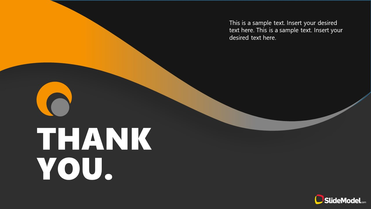 Dark PowerPoint Theme for Thank You Slide