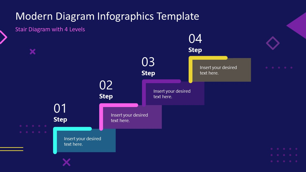 PowerPoint 4 Steps Infographic Diagram