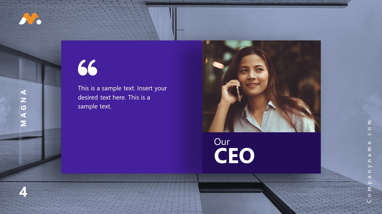 Magna PowerPoint CEO Message Template