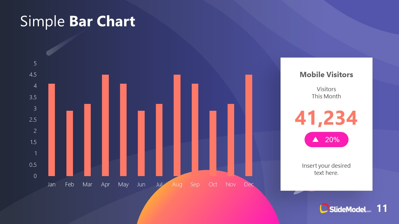 PowerPoint Theme of Outer Space Bar Chart Report