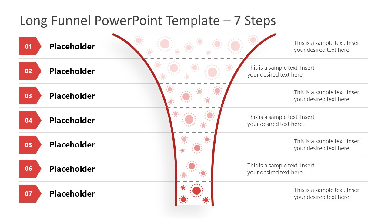 Funnel Diagram 7 Steps PowerPoint Template