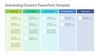 5 Column Onboarding Checklist Template