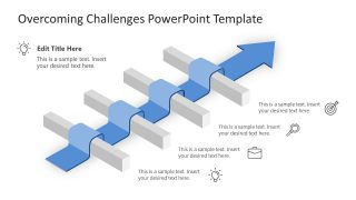Arrow Timeline for Overcoming Challenges PPT