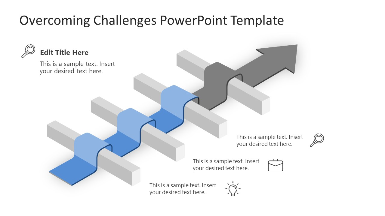 Animated Slide of Overcoming Challenges 3 Road Block