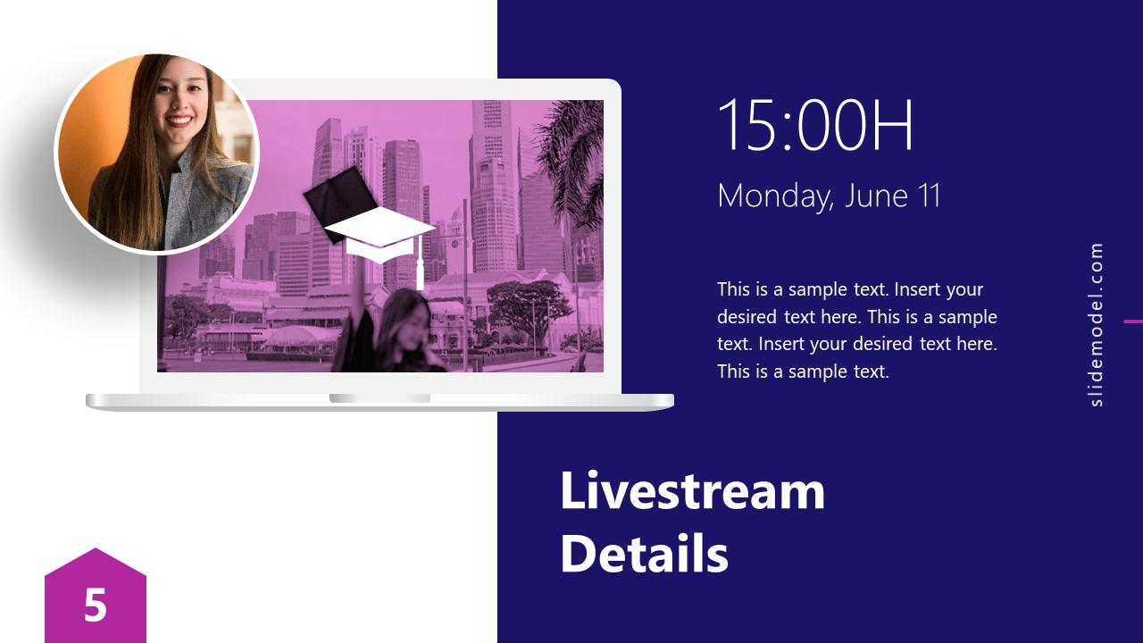 Presentation of Virtual Graduation Livestream Details