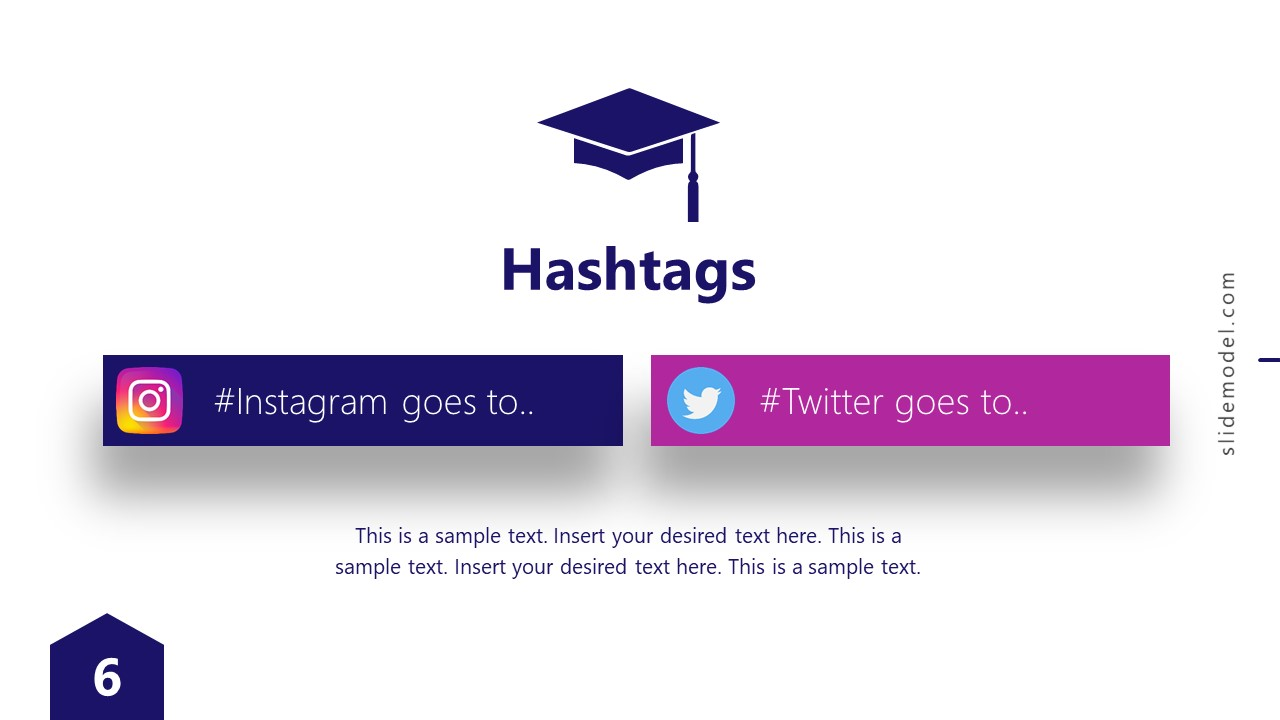 Presentation of Virtual Graduation Social Media Hashtag