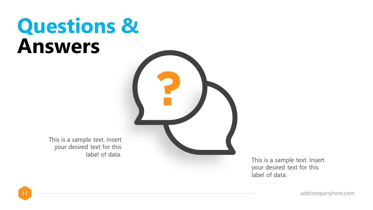 Business Presentation Formal Q&A Slide