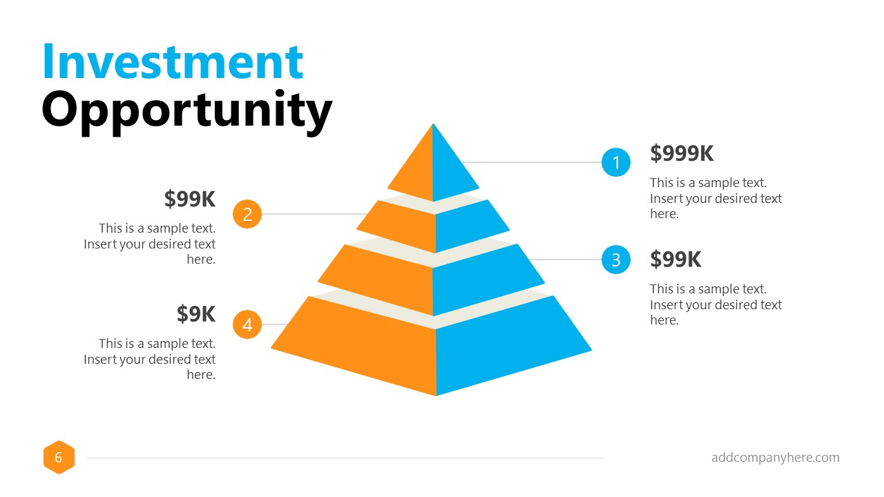 Business Presentation Formal 4 Steps Pyramid Slide