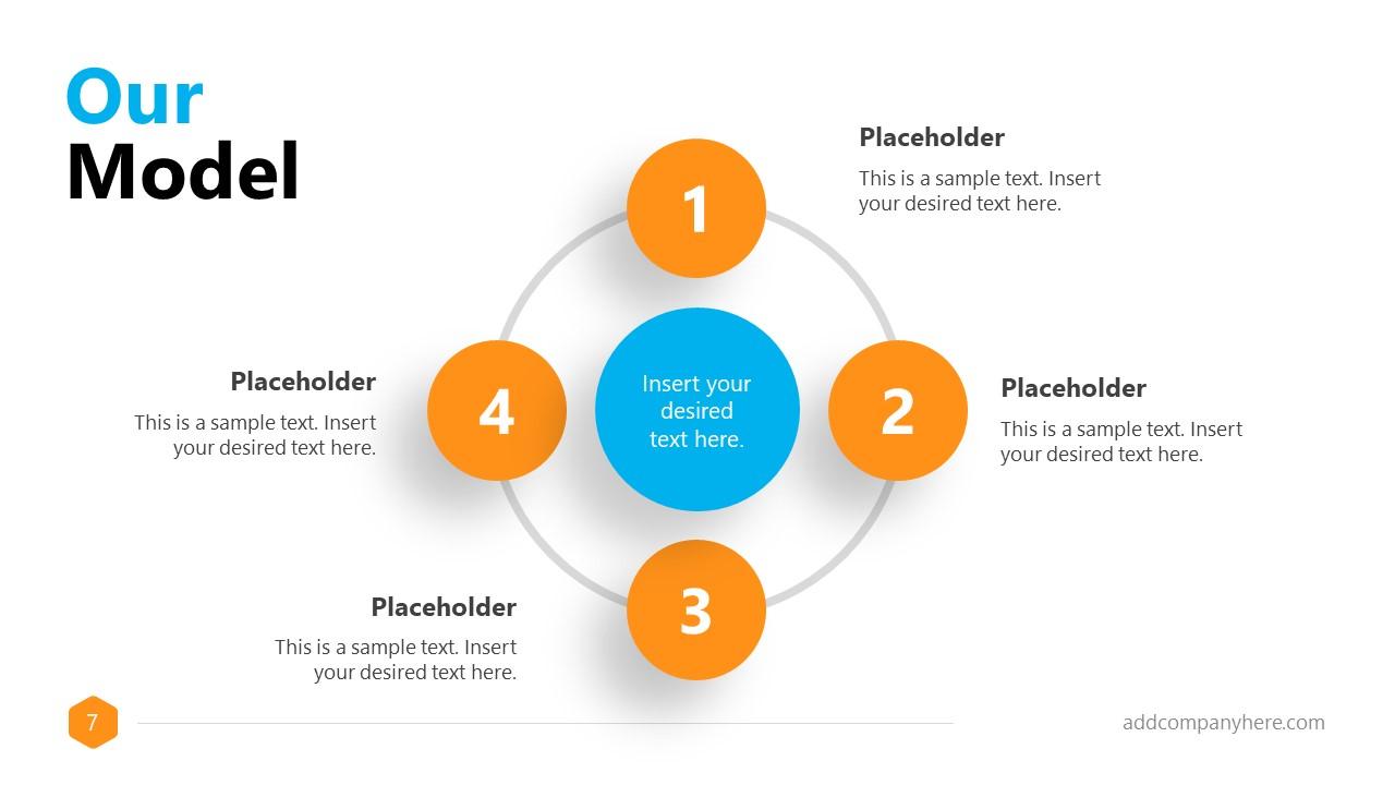 Business Presentation Formal 4 Steps Circle Slide
