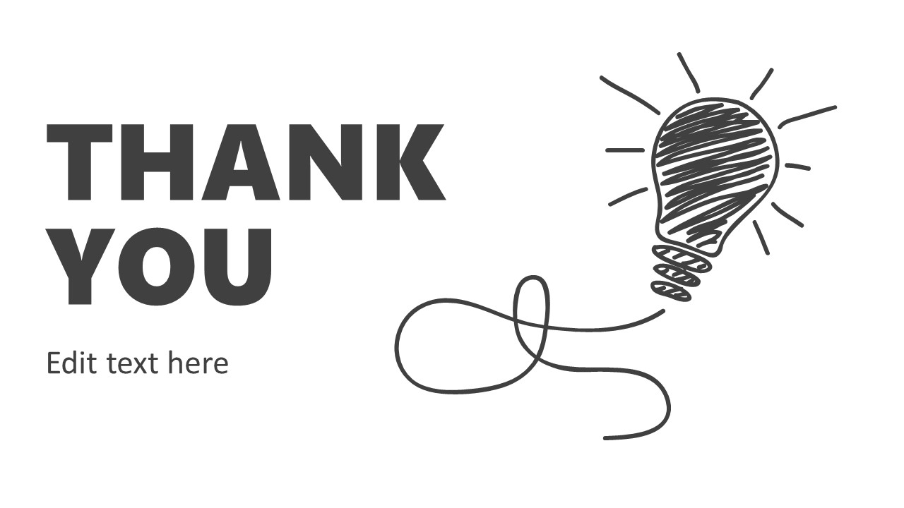 PowerPoint Thank You Slide of Big Idea