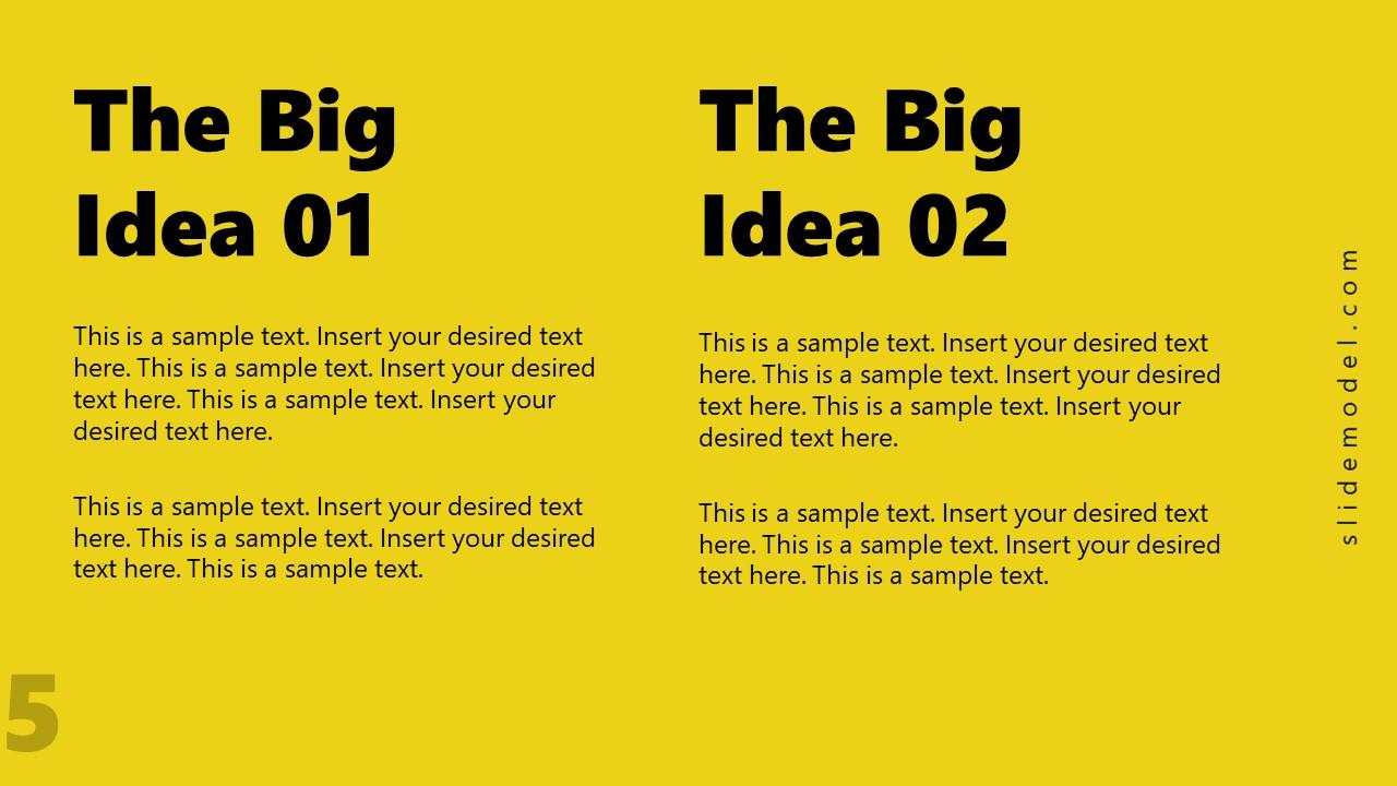 PowerPoint Concept 2 Big Ideas PPT