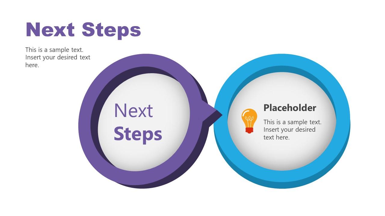 2 Steps Circle Diagram for Next Steps