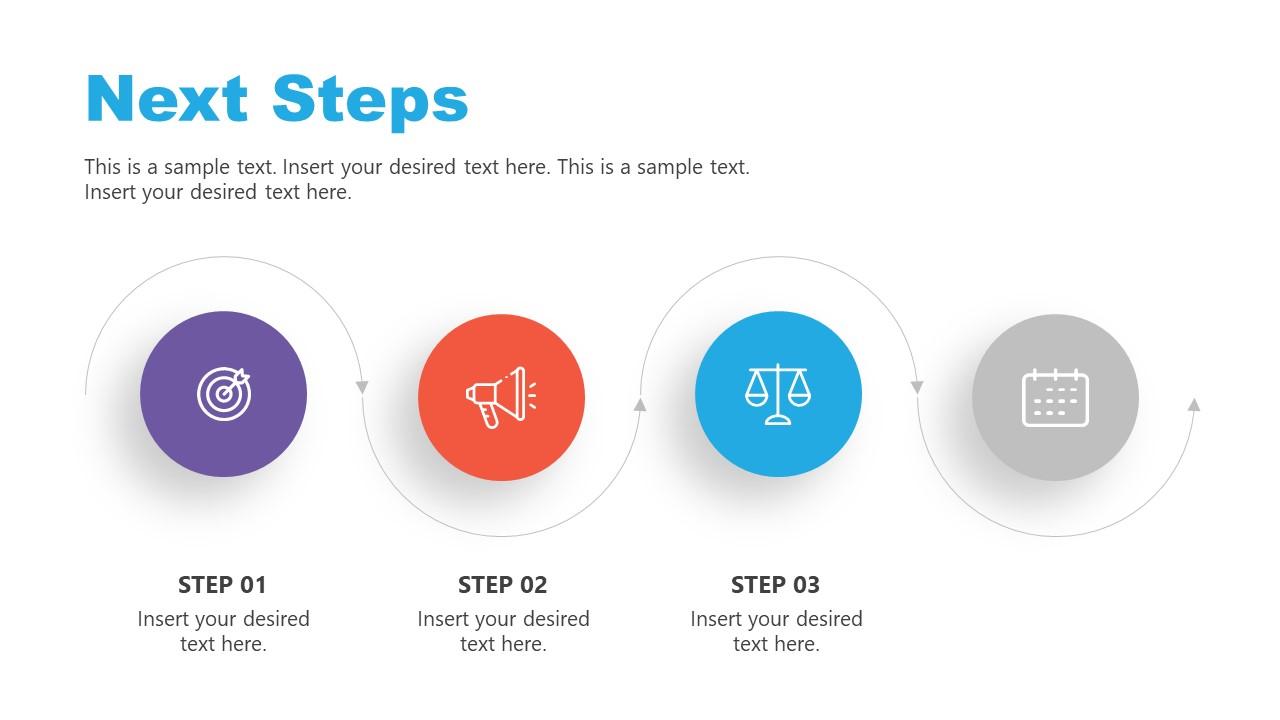 Slide of Horizontal Process Flow Step 3