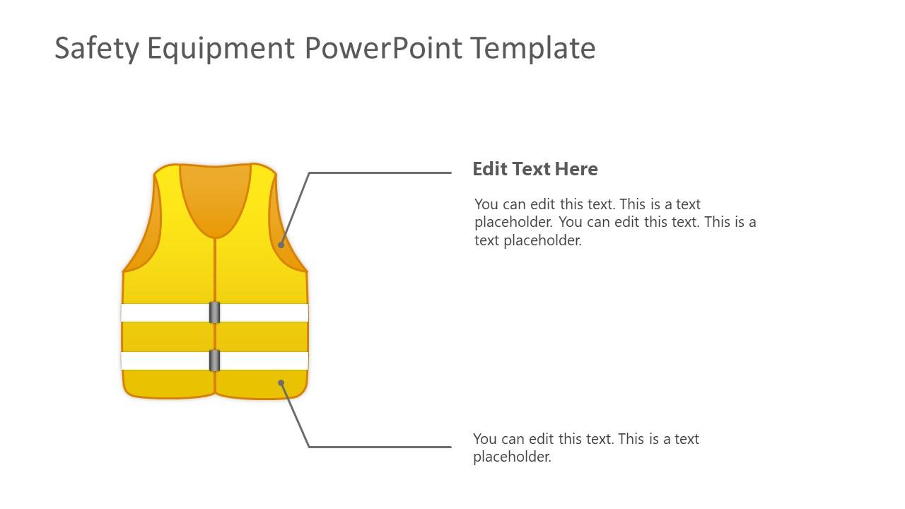 Yellow Reflective Jacket Roadside Workers Template