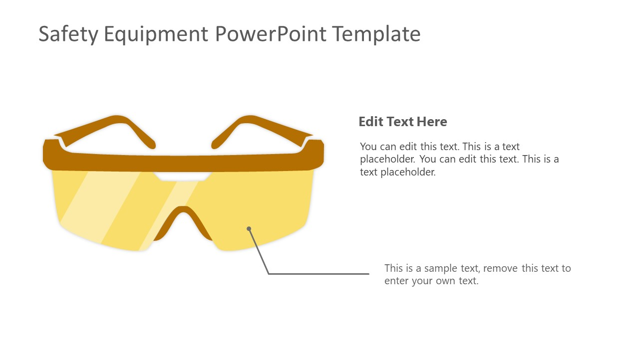 Safety Equipment Goggles Template