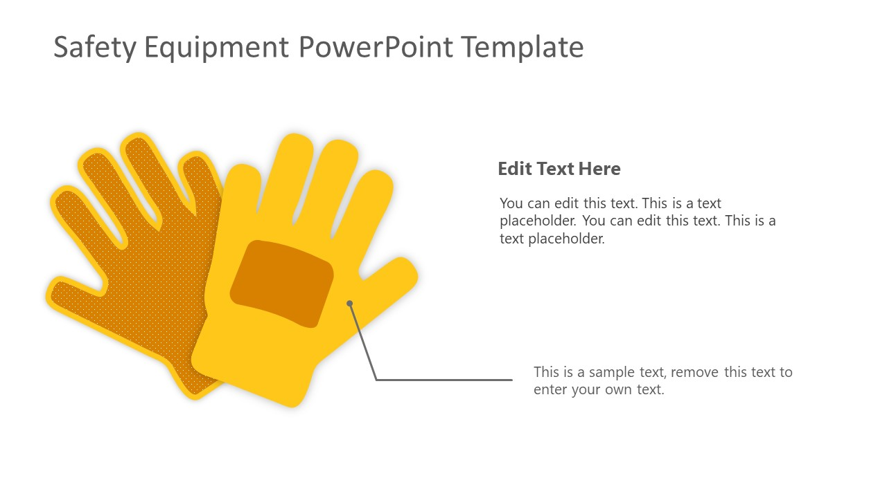 PowerPoint Shapes of Safety Gloves