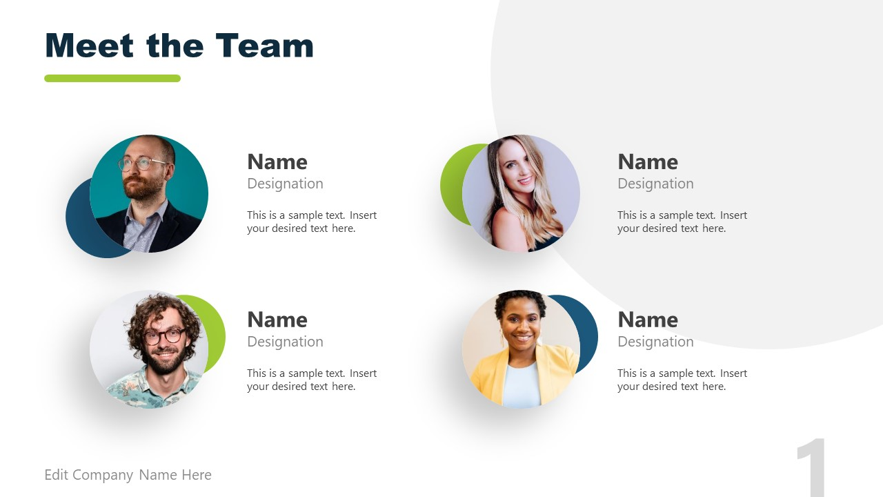 4 Section Image for Team Meetings