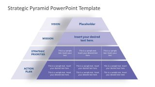 4 Level Pyramid Diagram for Strategy Planning