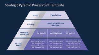 Strategic Panning Process 4 Steps Pyramid PPT