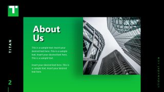 Business PowerPoint Template About Us Titan