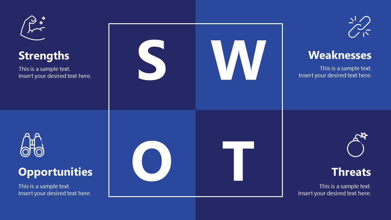 Business PowerPoint SWOT Analysis Technology Slide