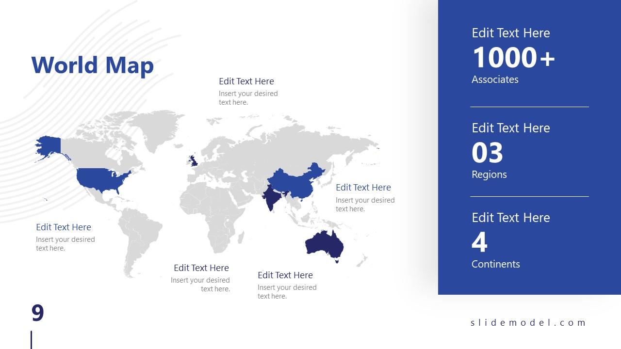 Business PowerPoint World Map Technology Slide