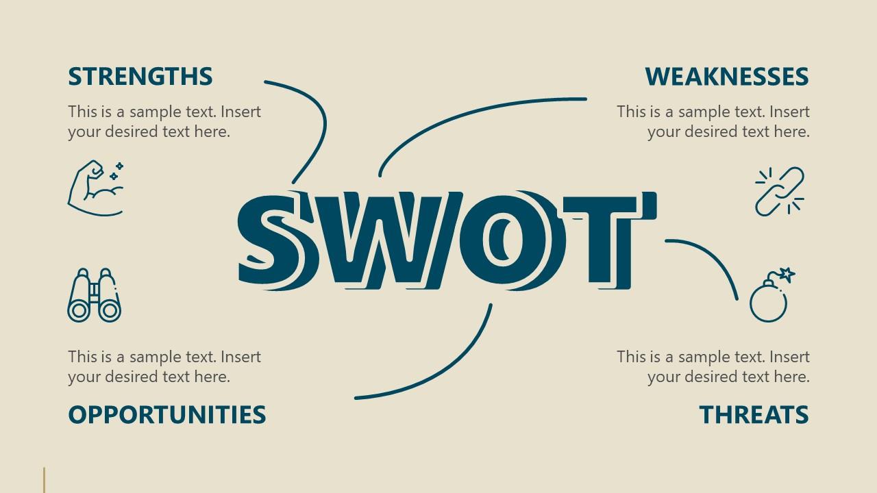 Business Presentation for Retro SWOT Slide