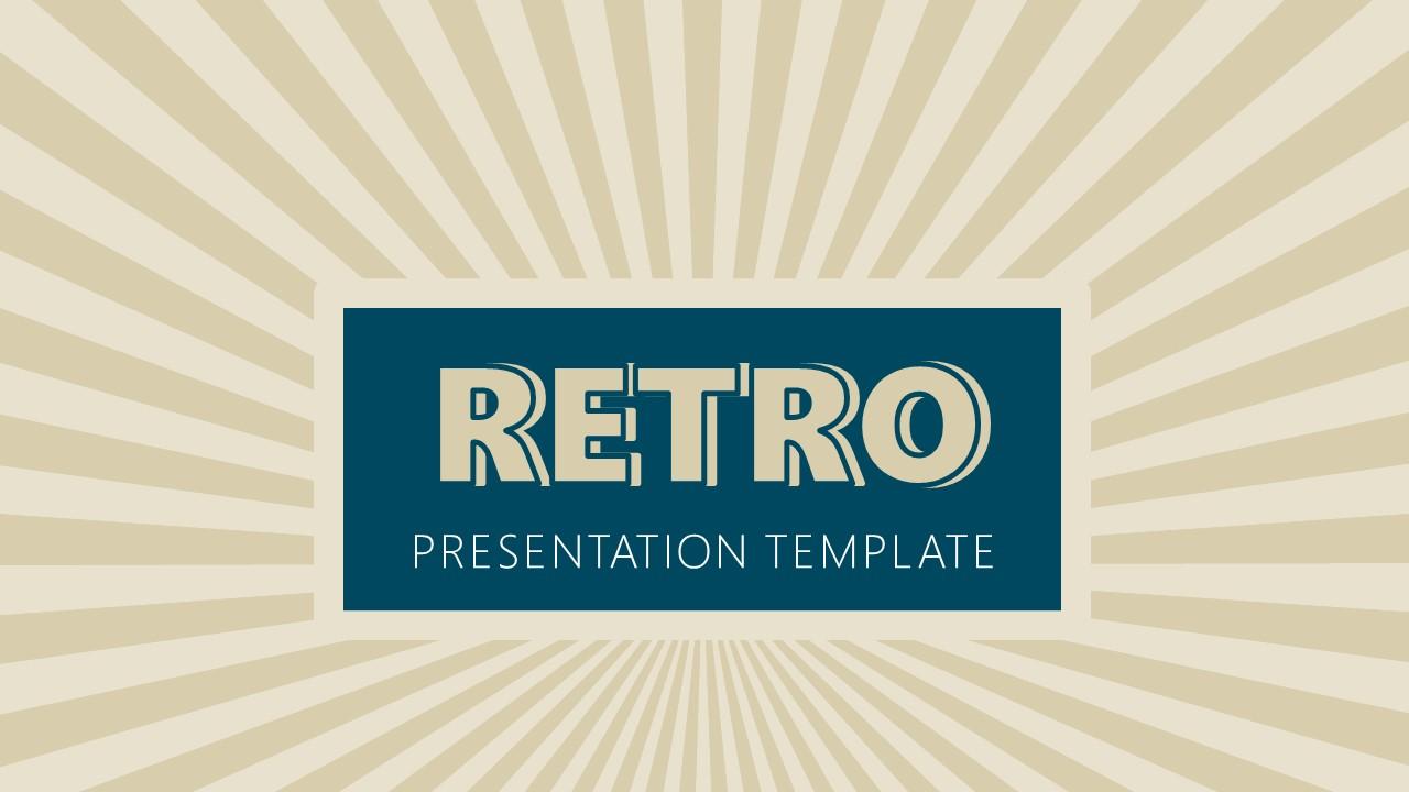 Presentation of Retro Pattern Background
