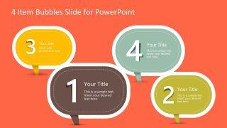 PowerPoint 4 Items Speech Bubbles