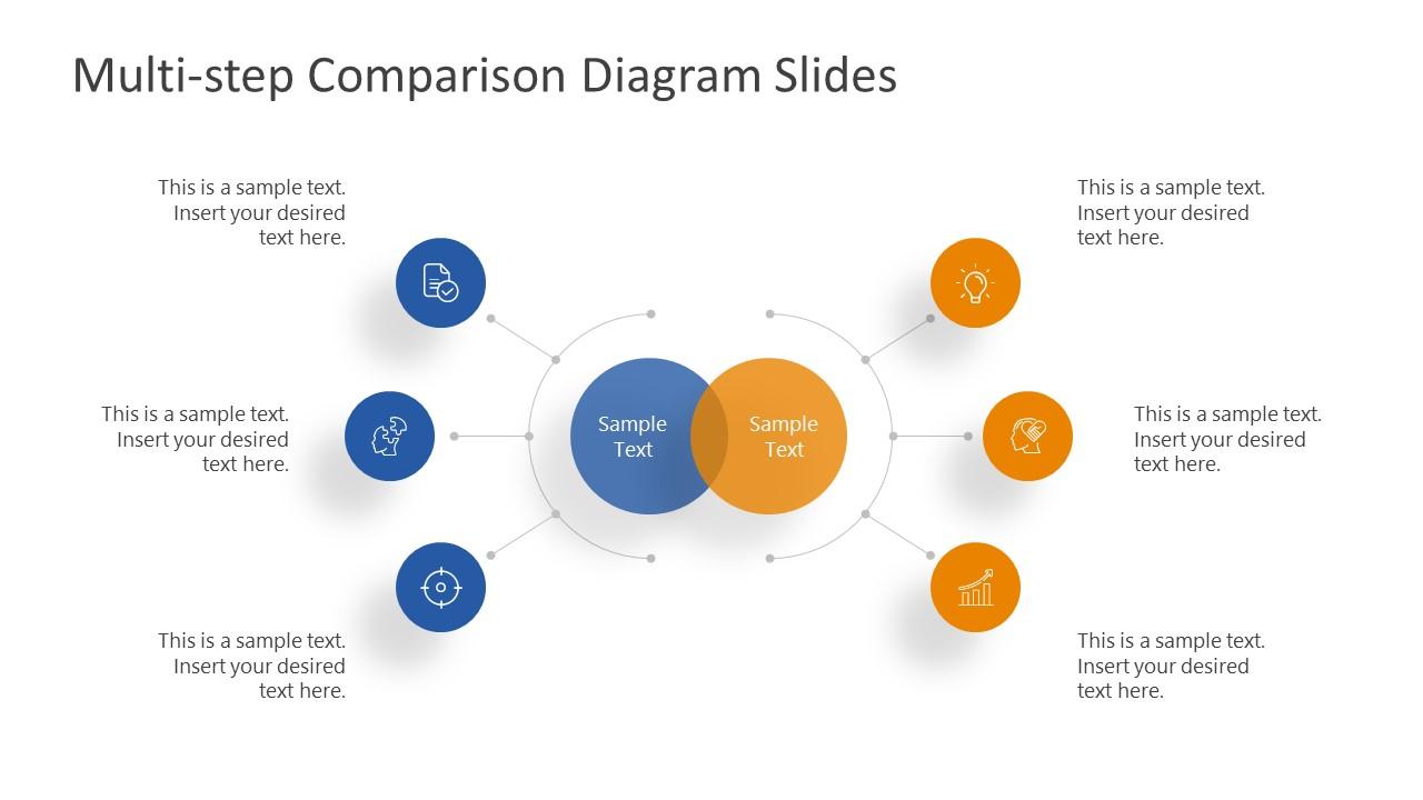 Simple PowerPoint Comparison 3 Steps