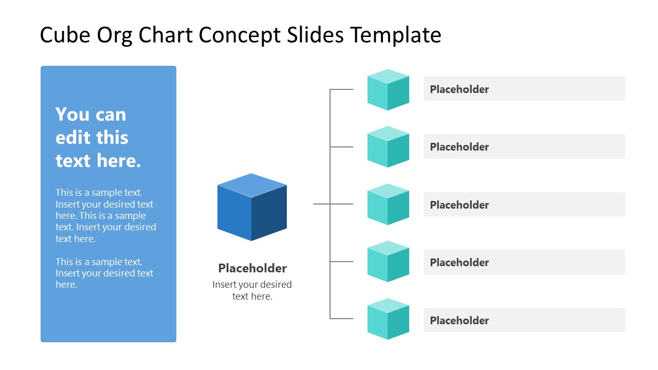 PowerPoint Cube Shapes for Org Chart