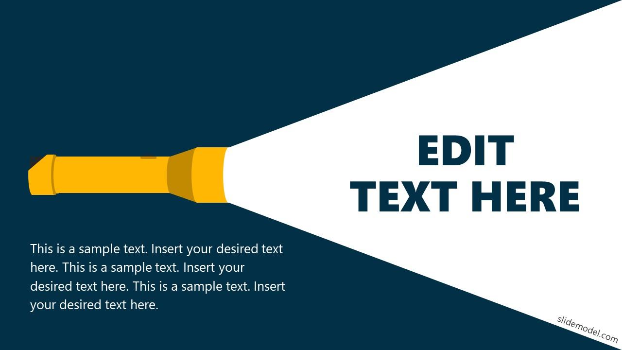 Slide of Torch Flashlight PowerPoint