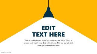 Slide of Pendent Light PowerPoint