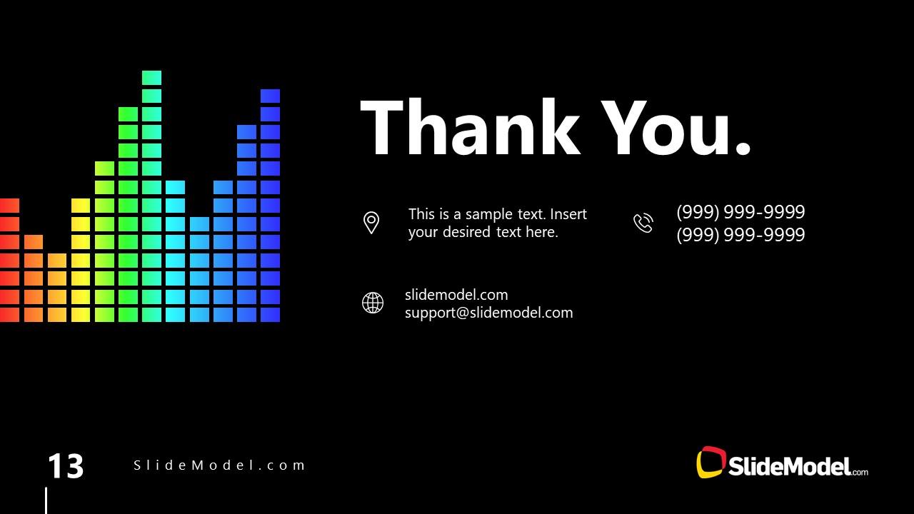 PowerPoint Thank You Slide Spectrum Design