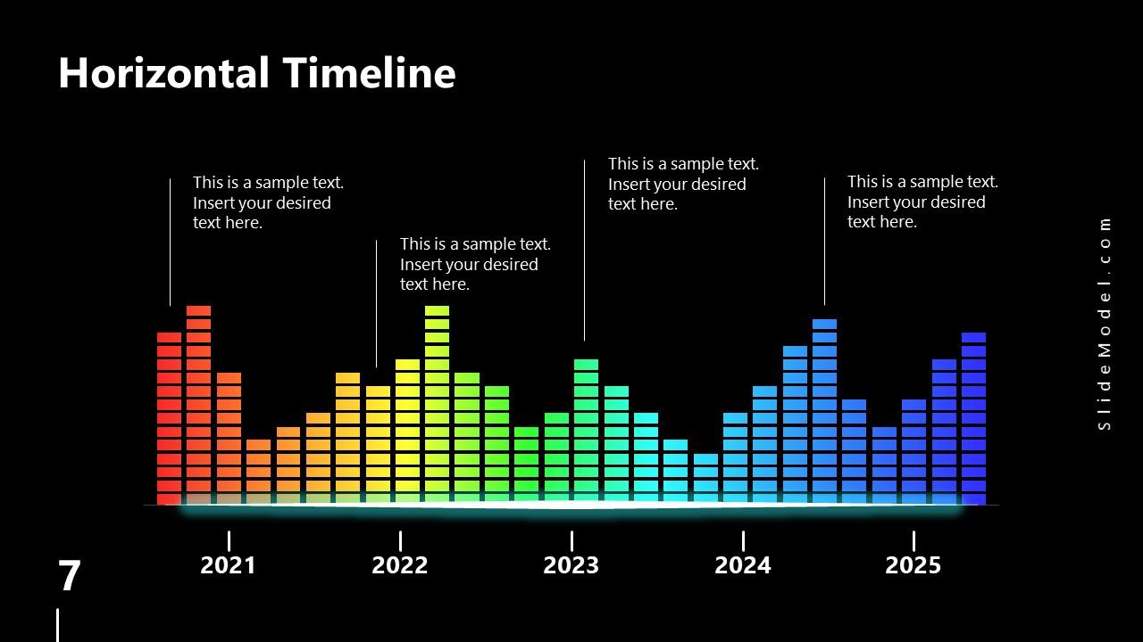 PowerPoint Equalizer Timeline Slide Spectrum Design