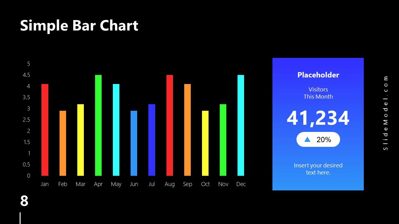 PowerPoint Bar Chart Slide Spectrum Design